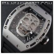 リシャール・ミル時計スーパーコピー トゥールビヨン スカル,SWISS ETA 2671搭載超安
