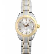 オメガ 腕時計スーパーコピー シーマスター 新作 アクアテラ 2377.30 YGコンビ シルバー レディース