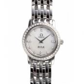 オメガ デ・ビル時計スーパーコピープレステージ 4575.75 ダイヤモンド ホワイトシェル