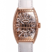 フランクミュラー ト時計スーパーコピー ノーカーベックス 超安ゴールドクロコ 5850SC GOLD CRO