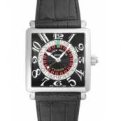 フランクミュラー腕時計スーパーコピー マスタースクエア コピーカジノ クロコレザー ブラック 6050KCSN