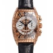 フランクミュラースーパーコピー時計 トノーカーベックス ゴールドクロコクロノ 8880CCAT GOLD CRO