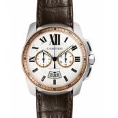 カルティエ時計スーパーコピー カリブル コピードゥ カルティエ クロノグラフ W7100043