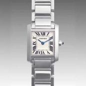 人気 カルティエ ブランド時計スーパーコピー レディース時計 タンクフランセーズ SM W50012S3