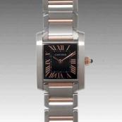人気 カルティエ ブランド時計スーパーコピー レディース時計 タンクフランセーズ SM W5010001