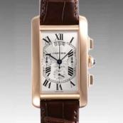 人気 カルティエ ブランド時計スーパーコピー タンクアメリカン クロノグラフ XL W2609356