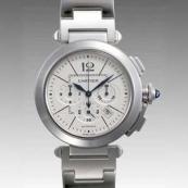 カルティエ時計ブランド通販コピー パシャ42 クロノ W31085M7