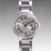 人気 カルティエ ブランド時計スーパーコピー 激安 バロンブルー SM WE9003Z3