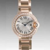 人気 カルティエ ブランド時計スーパーコピー 激安 バロンブルー SM WE9002Z3