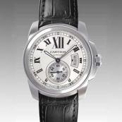 カルティエ時計ブランド 店舗 激安 カリブル ドゥ 黒ストラップ W7100037
