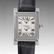 カルティエ時計ブランド 店舗 激安 タンクアビス 2タイムゾーン W1534351
