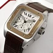 ブランド カルティエ時計スーパーコピー サントス100クロノ W20091X7