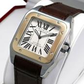 ブランド カルティエ時計スーパーコピー サントス100 コンビ W20072X7