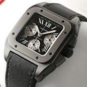 ブランド カルティエ時計スーパーコピー サントス100 カーボン クロノグラフ W2020005