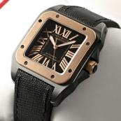ブランド カルティエ時計スーパーコピー サントス100 カーボン コンビ W2020009