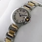 ブランド カルティエ時計スーパーコピー バロン ブルー ドゥ レディース コンビ W69007Z3