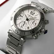 ブランド カルティエ時計スーパーコピー パシャシータイマークロノ W31089M7