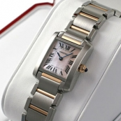 ブランド カルティエ時計スーパーコピー タンクフランセーズ ピンクゴールド コンビ W51027Q4