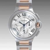 カルティエ コピー時計 バロンブルークロノ W6920063
