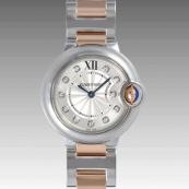 カルティエ コピー時計 バロンブルー 28mm WE902030