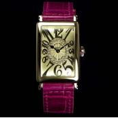 FRANCK MULLER フランクミュラー 時計 偽物 ロングアイランド レディース レリーフダイヤモンド 902QZCD1RREL