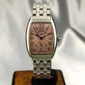 FRANCK MULLER フランクミュラー 時計 偽物 トノウカーベックス レディース パステルピンク 1750S6
