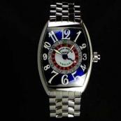 FRANCK MULLER フランクミュラー スーパーコピー時計 ヴェガス ブルーダイヤル 6850VEGAS