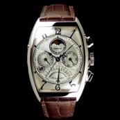 フランク・ミュラー コピー 時計 レトログラード パーペチュアルカレンダー クロノグラフ 6850QPE OG White