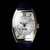 フランク・ミュラー コピー 時計 マスターカレンダー ムーンフェイズ 6850MCL 3N White