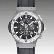 ウブロ コピー時計 ビッグバン アエロバン スチール ダイヤモンド 311.SX.1170.GR.1104