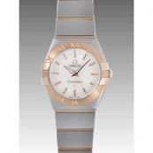 オメガ時計スーパーコピー ブランドコピーコンステレーション ブラッシュクォーツ 123.20.24.60.05.001