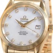 ブランド時計オメガ 人気 シーマスター コーアクシャル アクアテラ クロノメーター 2104-75