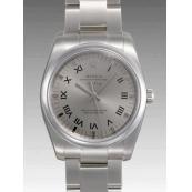 ロレックス 時計 エアキング 114200 自動巻きグレー