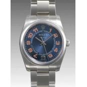 ロレックス 時計 エアキング 114200 ブルー 自動巻き