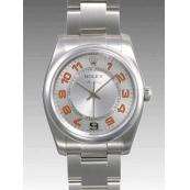 ロレックス 時計 エアキング 114200 シルバー 34mm