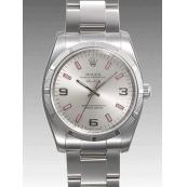 ロレックス コピー 時計 エアキング 114210 ピンクバー