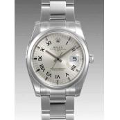 ロレックス 時計 オイスターパーペチュアル デイト 115200 シルバー