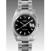 ロレックス 時計 オイスターパーペチュアル デイト 115234 ブラック
