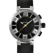 ルイヴィトン時計偽物コピー タンブールクロノ インブラック Q118F2