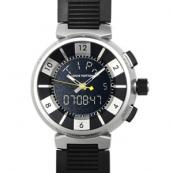 ルイヴィトン時計偽物コピー タンブールクロノインブラックQ22BGO