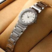 ブランド ブルガリスーパーコピー時計 レディース ホワイトダイヤル/12ダイヤインデックス BB26WSS/12N
