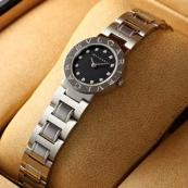 ブランド ブルガリスーパーコピー時計 レディース ブラックダイヤル/12ダイヤインデックス BB23BSS/12N