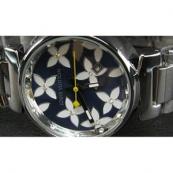 ルイヴィトン時計スーパーコピー louis vuitton腕時計 黒×白文字盤女性用LV-009