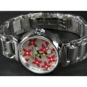 ルイヴィトン時計スーパーコピー louis vuitton腕時計 赤×白文字盤女性用 LV-008