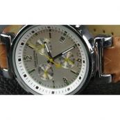 ルイヴィトン 時計スーパーコピー時計 シルバー文字盤本革ベルトLV-015
