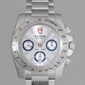 チュードル 腕時計スーパーコピー クロノグラフ 3列ブレス シルバー 20300