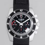 チュードル 腕時計スーパーコピー グランツアーブラック革 ブラック 20350N