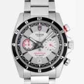 チュードル 腕時計スーパーコピー グランツアークロノ フライバック 3列ブレス グレー 20550N