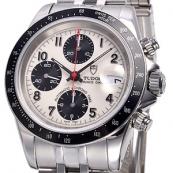 チュードル クロノタイム 自動巻き時計 アイボリー/ブラック 79260