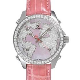 ジェイコブ 腕時計スーパーコピークォーツステンレス ダイヤモンド ピンク タイプ 新品メンズ